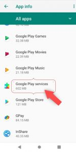 How to update Google Play services app