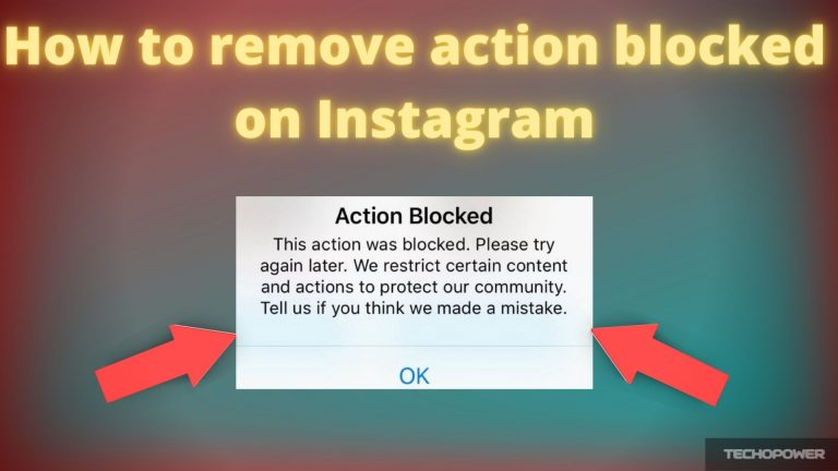 How to remove action blocked on Instagram