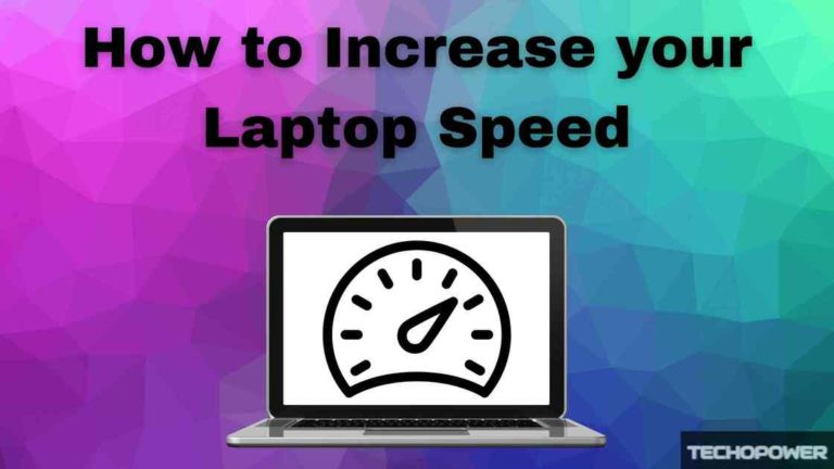 how to speed up laptop w