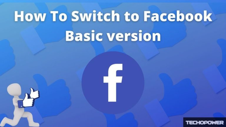How To Switch to Facebook Basic version